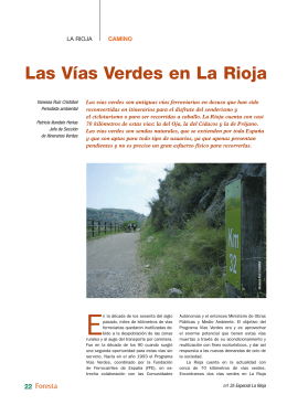 Las Vías Verdes en La Rioja