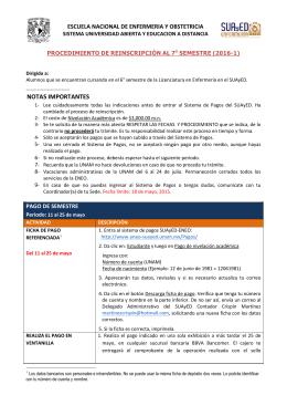 NOTAS IMPORTANTES - Licenciatura en Enfermería :: ENEO