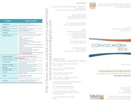 CONVOCATORIA 2016 - Licenciatura en Enfermería :: ENEO