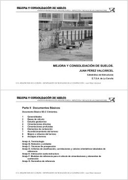 mejora y consolidación de suelos mejora y consolidación de suelos