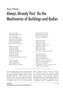 Always Already Post: On the Machineries of Buildings and Bodies