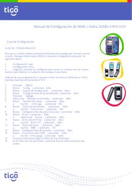 Manual de Configuración de MMS / Nokia 3220b/ 6101/ 6131