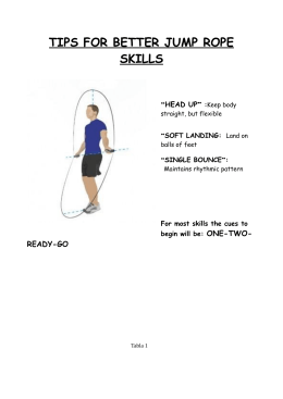 TIPS FOR BETTER JUMP ROPE SKILLS