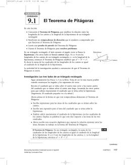 El inverso del Teorema de Pitágoras