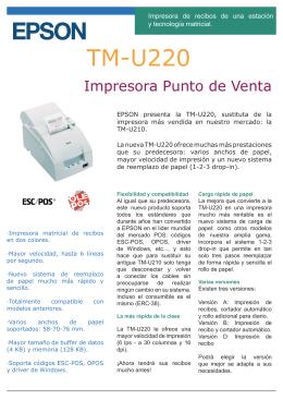 TM-U220 - Electro Misiones SA