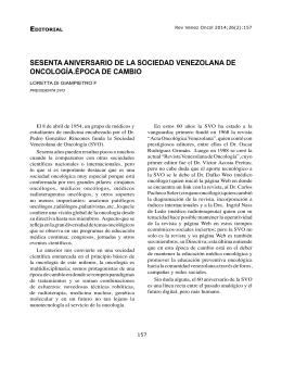 Di Giampietro L - Sociedad Venezolana de Oncología