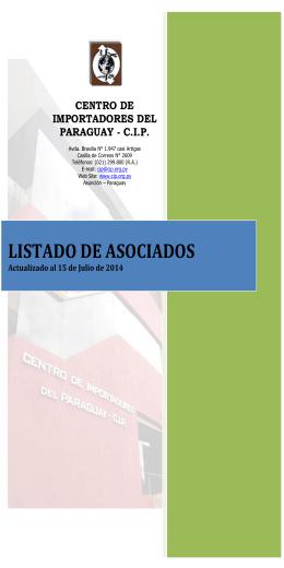LISTADO DE ASOCIADOS - Universidad Columbia del Paraguay