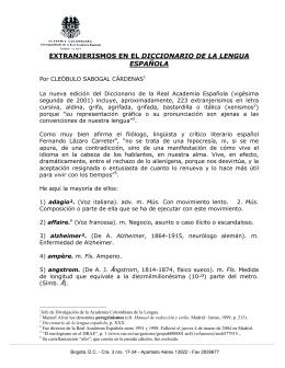 extranjerismos en el diccionario de la lengua española