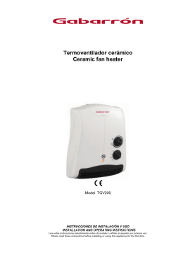 Termoventilador cerámico Ceramic fan heater