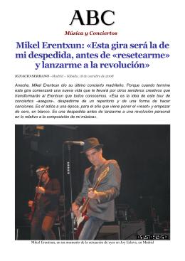 Entrevista realizada por Ignacio Serrano, previa al concierto que