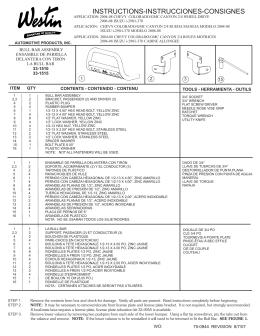 INSTRUCTIONS-INSTRUCCIONES-CONSIGNES