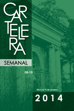 6 al 11 de octubre de 2014 - Recinto Universitario de Mayagüez
