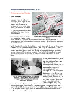 37. Granma en varios idiomas - UPEC Unión de Periodistas de Cuba