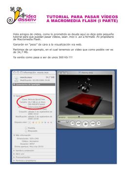 tutorial para pasar vídeos a macromedia flash (i parte)