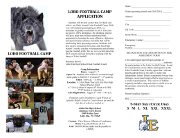 lobo football camp application lobo football camp