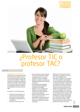 ¿Profesor TIC o profesor TAC?