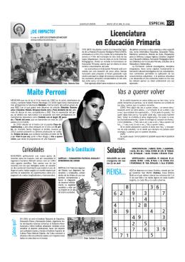 Licenciatura en Educación Primaria Solución Maite Perroni PIENSA