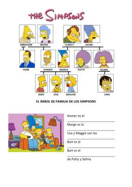 EL ÁRBOL DE FAMILIA DE LOS SIMPSONS Homer es el Marge es