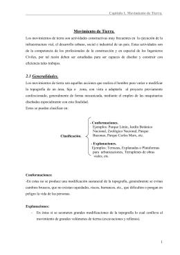 Movimiento de Tierra. 2.1 Generalidades.