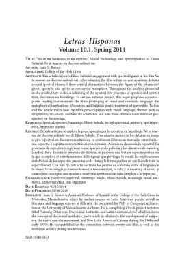 Letras Hispanas - Department of Modern Languages