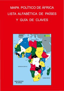R 3-6 Guía mapa político África