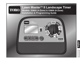 Toro 53805 & 53806 Lawn Master II Landscape Timer