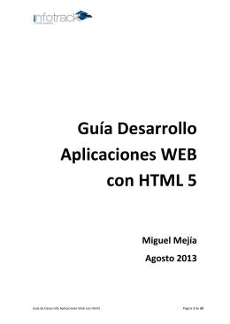 Guía Desarrollo HTML5