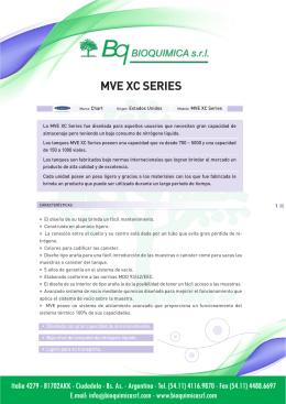 MVE XC Series - Bioquimica S.R.L.