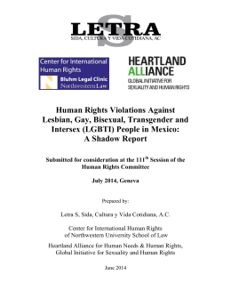 Human Rights Violations Against Lesbian, Gay, Bisexual