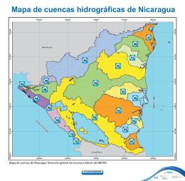Mapa de cuencas hidrográficas de Nicaragua