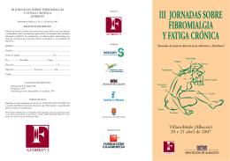 III JORNADAS SOBRE FIBROMIALGIA Y FATIGA CRÓNICA