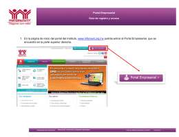 1. En la página de inicio del portal del Instituto, www.infonavit.org