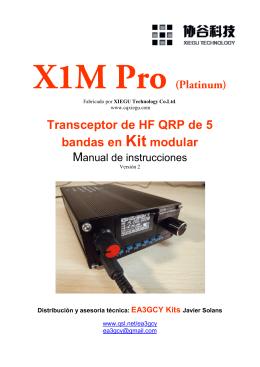 Transceptor de HF QRP de 5 bandas en Kit modular