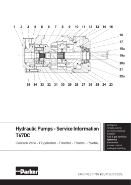 Hydraulic Pumps - Service Information T67DC