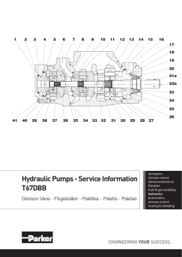 Hydraulic Pumps - Service Information T67DBB