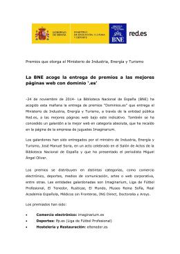 Nota de prensa - Biblioteca Nacional de España