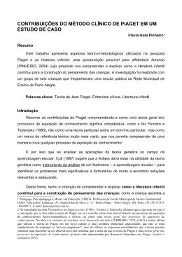 contribuições do método clínico de piaget em um estudo de caso