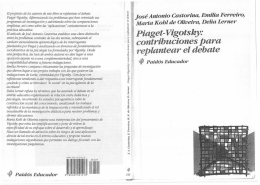 Piaget- Vigotsky: contribuciones para replantear el debate