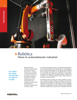 El Robot Industrial - Revista Metal Actual