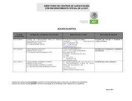 REGISTRO DE CENTROS DE CAPACITACION