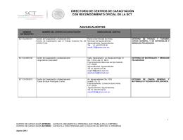 directorio de centros de capacitación con reconocimiento oficial de