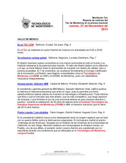 Nov 21, 2013 5:30:21 PM - Tecnológico de Monterrey