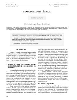 semiologia obstétrica - Revista Medicina
