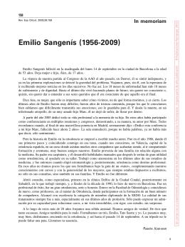 Emilio sangenís (1956-2009) - Revista Española de Ortodoncia