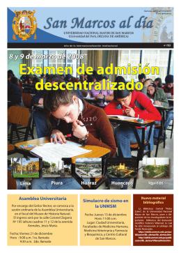 Examen de admisión descentralizado