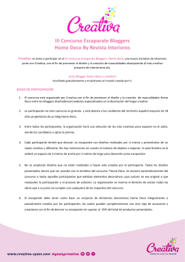 III Concurso Escaparate Bloggers Home Deco By
