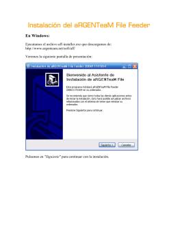 aRGENTeaM File Feeder