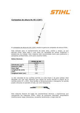 Cortasetos de altura HL 95 (135º)