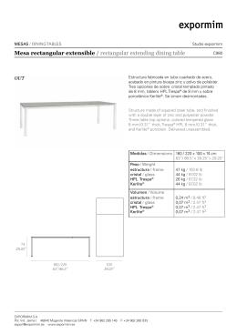 Mesa rectangular extensible / rectangular extending dining table