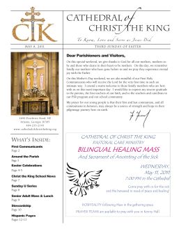 BILINGUAL HEALING MASS - Cathedral of Christ the King